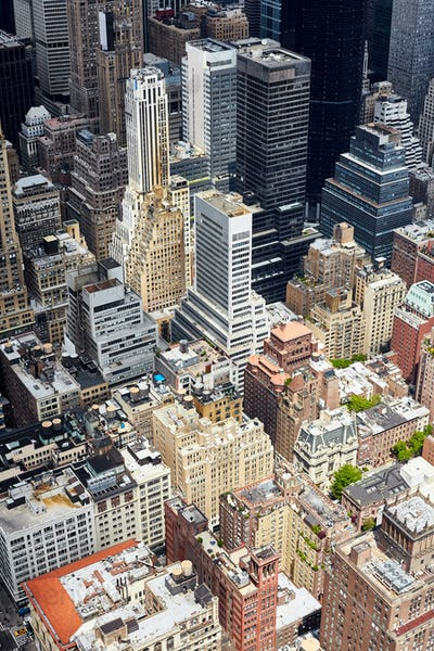 Aerial view of the Manhattan.