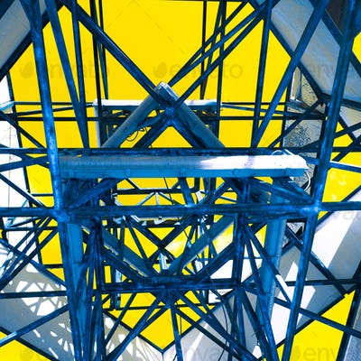 Geometric abstraction object at street Modern minimal art