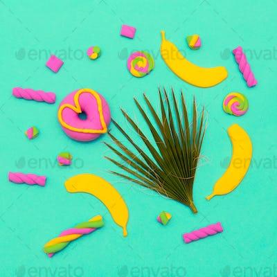 Sweet Candy Art Minimal flatlay Vanilla mood
