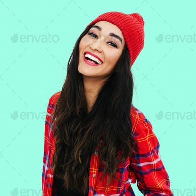 Beautiful smilinghappy girl. Casual style
