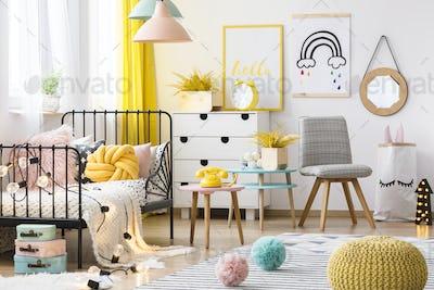 Pastel kid's room interior