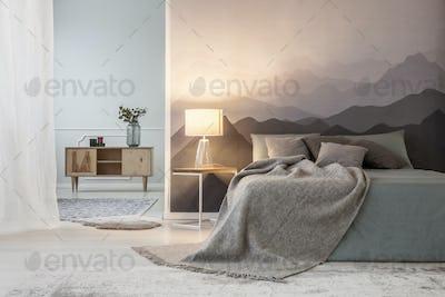 Mountain lover's open space bedroom