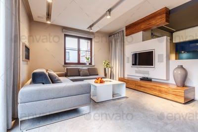 Cozy warm living room