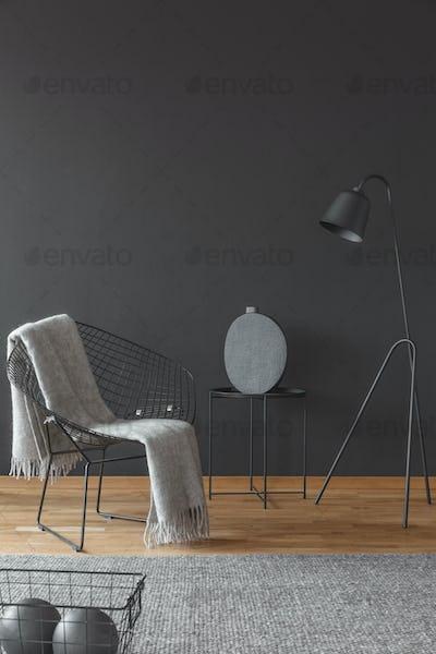Black reading corner