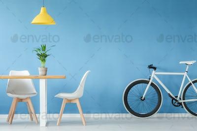 Minimal interior with furniture