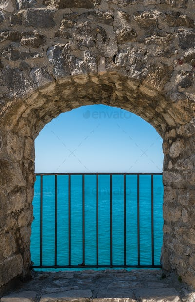 Window to the blue sea