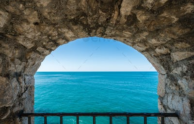 Window to the blue sea