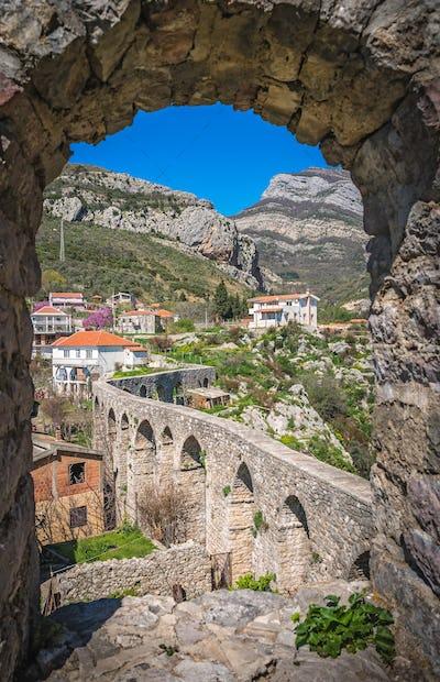 Remains of aqueduct in Stari Bar