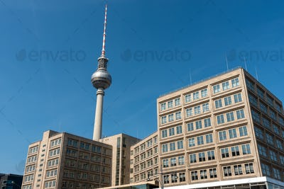 The famous Television Tower and some buildings from GDR times