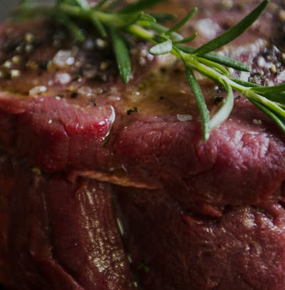 A fillet steak food photography recipe idea