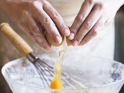Cake batter food photography receipe idea