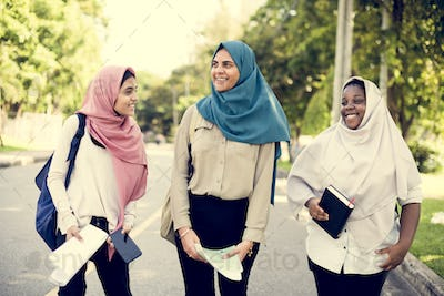 Group of Muslim women having a great time