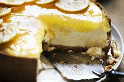 Lemon chessescake food photography recipe idea