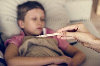 A sickness young boy