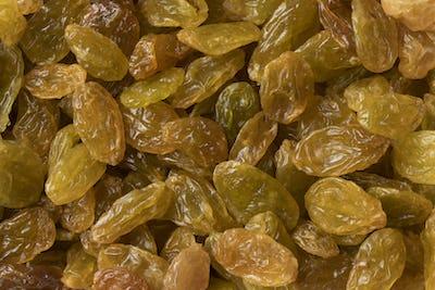Golden yellow jumbo raisins