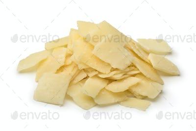 Heap of Parmigiana reggiano cheese flakes