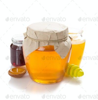 glass jar of honey