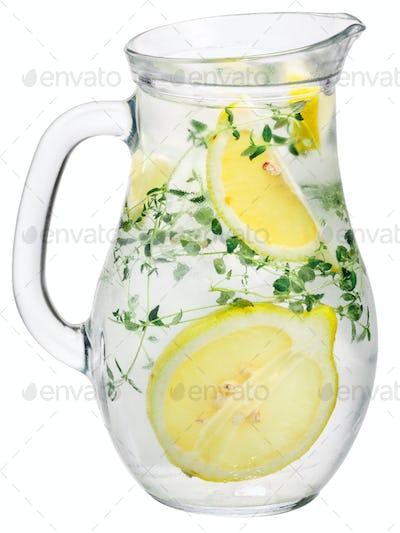 Thyme lemon detox water pitcher