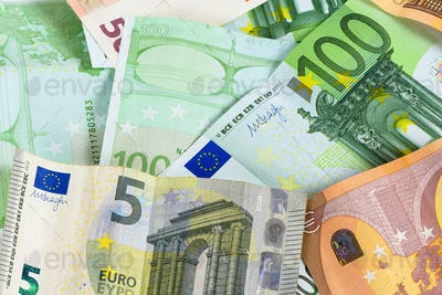 Background made of euro banknotes