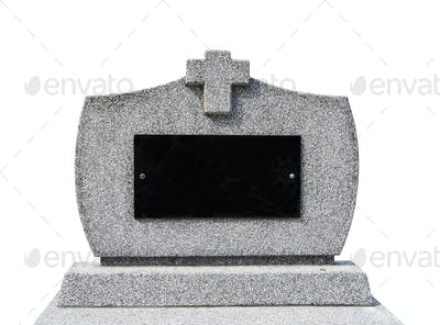 Blank gravestone Iisolated ( clipping path )