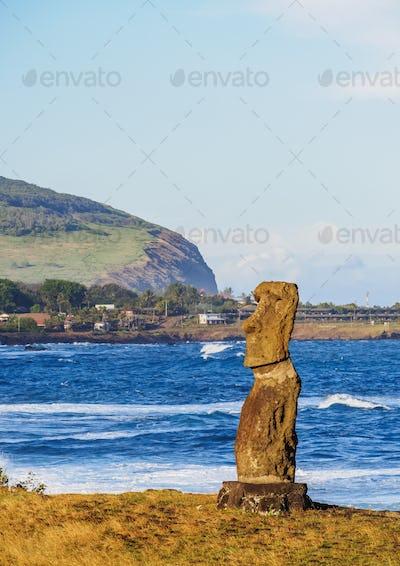 Moai on Easter Island, Chile