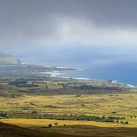 Landscape of Easter Island, Chile
