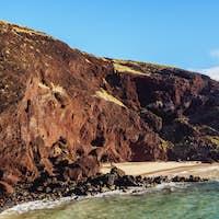 Landscape of Ovahe on Easter Island, Chile