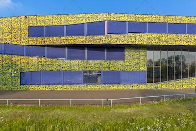 Architecture detail of modern design high school