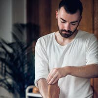 Therapist Doing Anti Cellulite Madero Therapy Massage