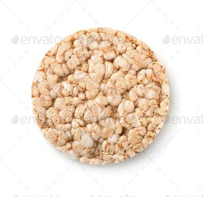 Top view of puffed whole grain crispbread