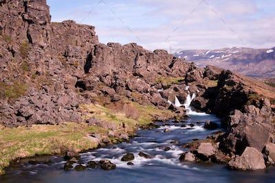 Oexara River In Pingvellir, Iceland