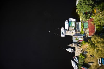 Small port on the lake