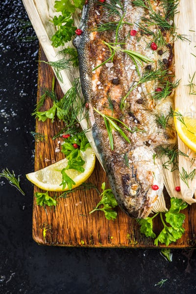 Localu sourced grilled trout fish