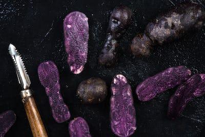 Culinary trends, purple potatoes