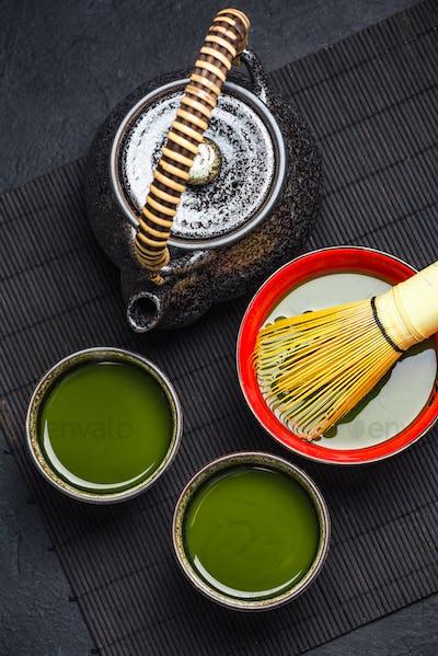 Oriental tea ceromony ceramic set