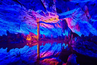 Reed Flute Cave in Guilin, China.