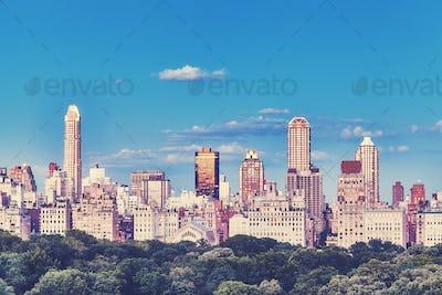 New York City Upper East Side skyline, USA.