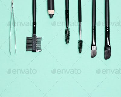 Accessories for care of brows with free space for text
