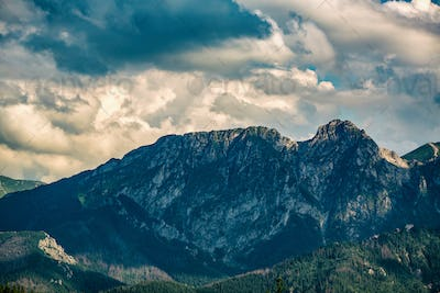 Giewont Mountain, Inspiring Mountains Landscape in summer Tatras