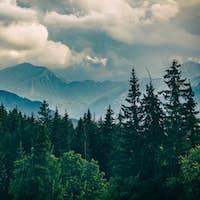 Inspiring Mountains Landscape, beautiful summer day in Tatras, P