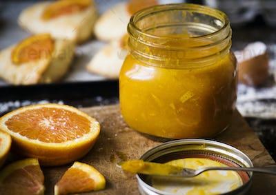 Homemade orange marmalade food photography recipe idea