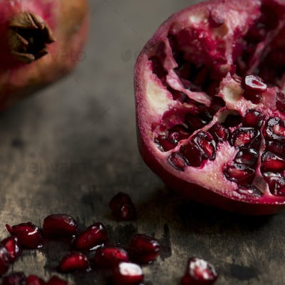 Fresh pomegranate food photography recipe idea