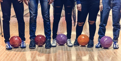 Time with friends at a bowling alley