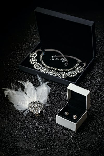 Woman's jewelry, beautiful rhinestone
