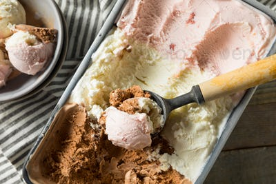 Homemade Neopolitan Ice Cream