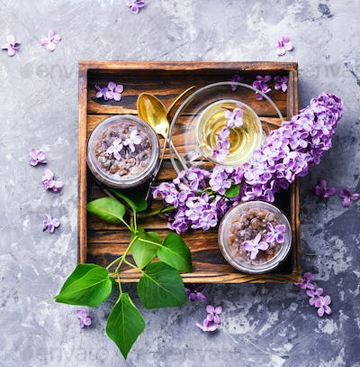 Homemade jam from the lilac