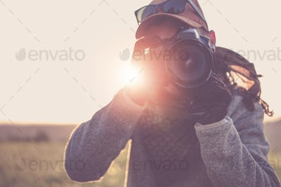 Press Photographer with Camera