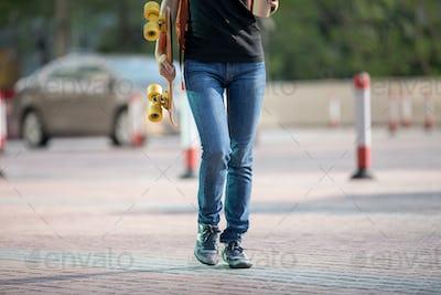 Walking in city