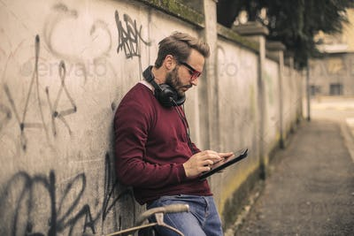Man with a tablet