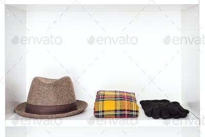 Fashion accessories storage in dressing room